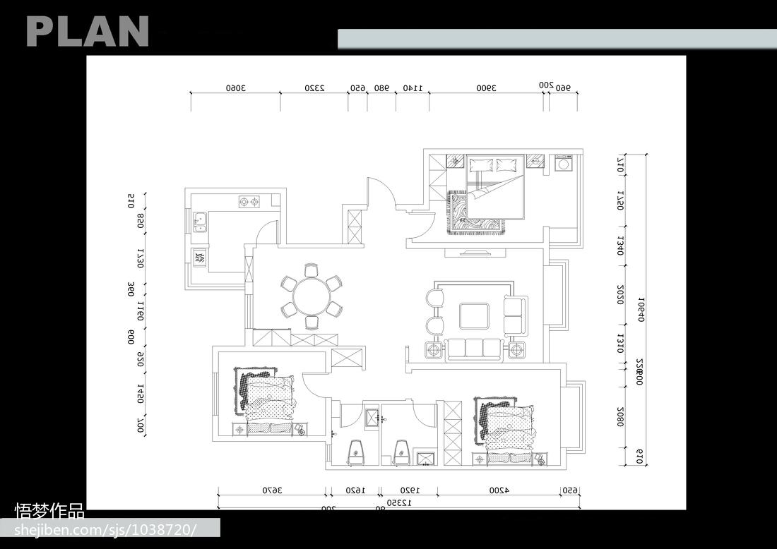 复古创意中式风格厨房装修效果图