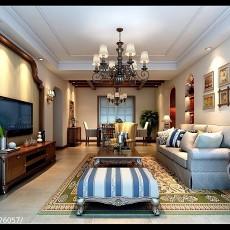 94平米三居客厅美式欣赏图片大全