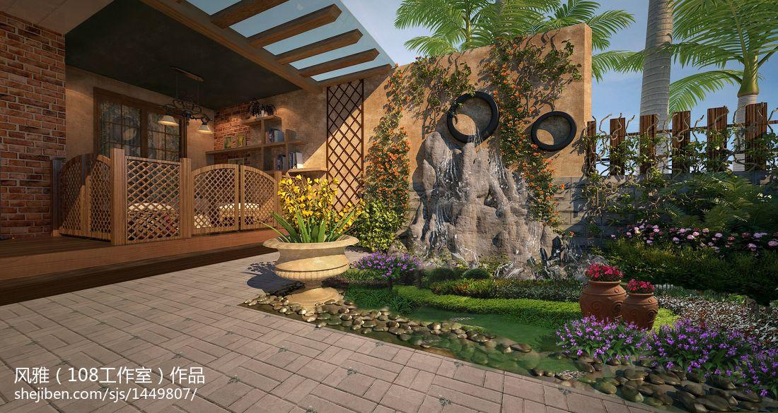 精美面积111平复式休闲区美式装修实景图片