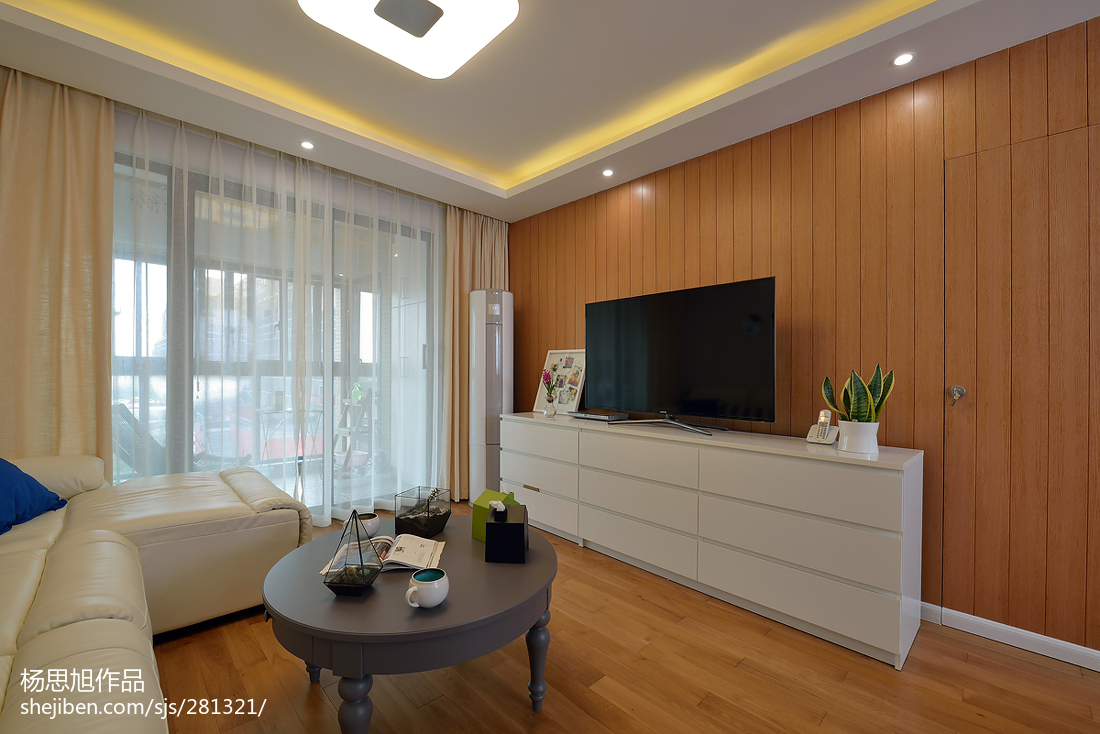 热门大小70平现代二居客厅装修设计效果图片