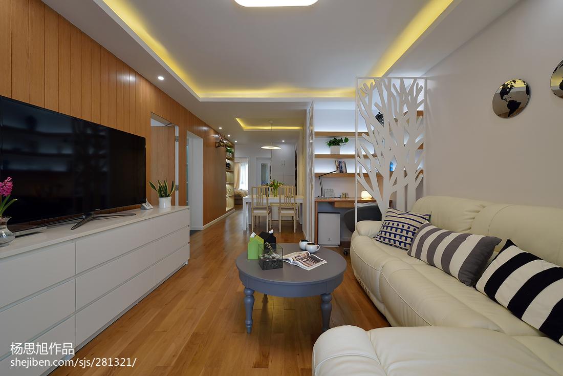 2018精选88平米二居客厅现代实景图片欣赏