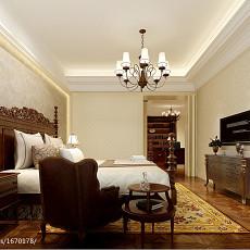 热门面积101平美式三居卧室欣赏图片大全