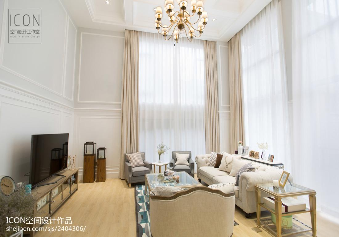 精美面积112平别墅客厅美式装修效果图片