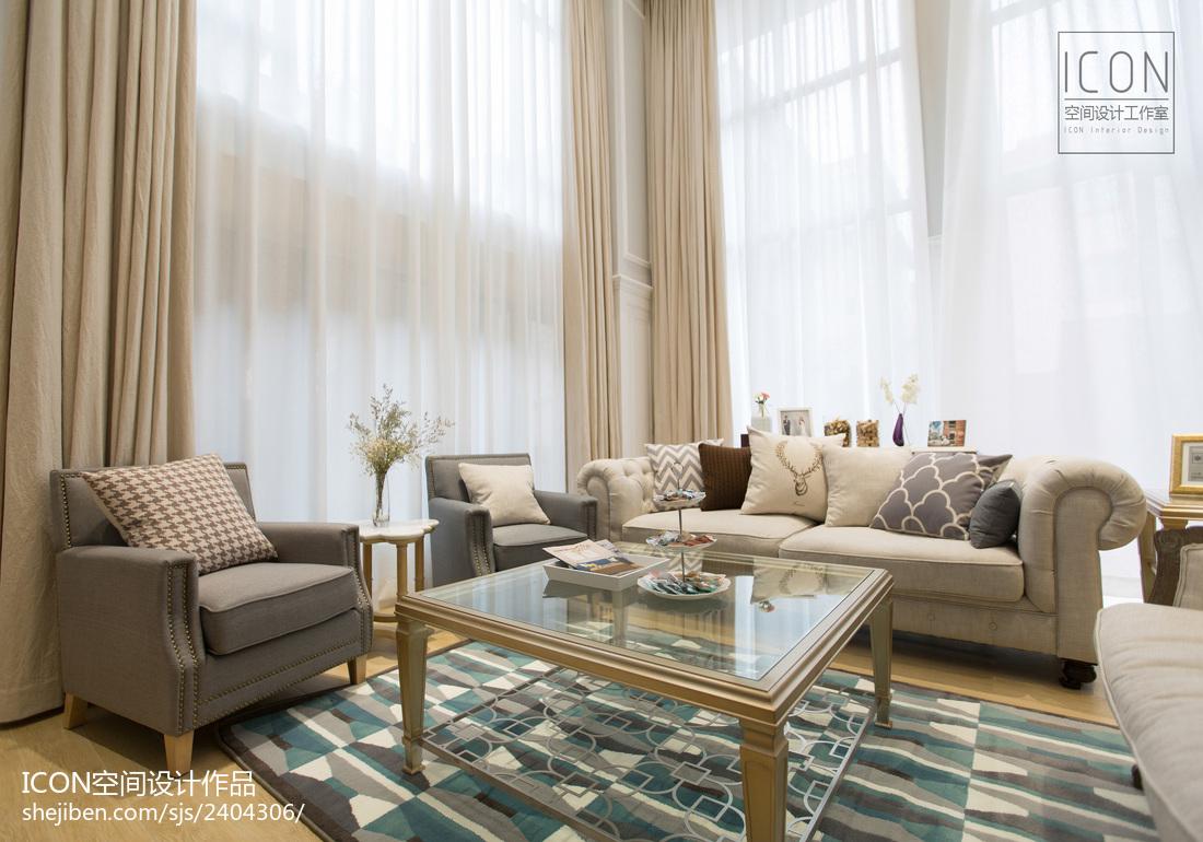 2018精选124平米美式别墅客厅装修实景图片欣赏