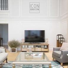精美面积132平别墅客厅美式装修欣赏图片