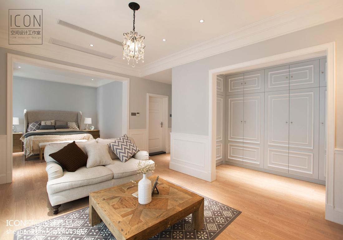 美式风格卧室前厅装修图片
