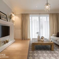 精美115平米美式别墅客厅实景图片欣赏