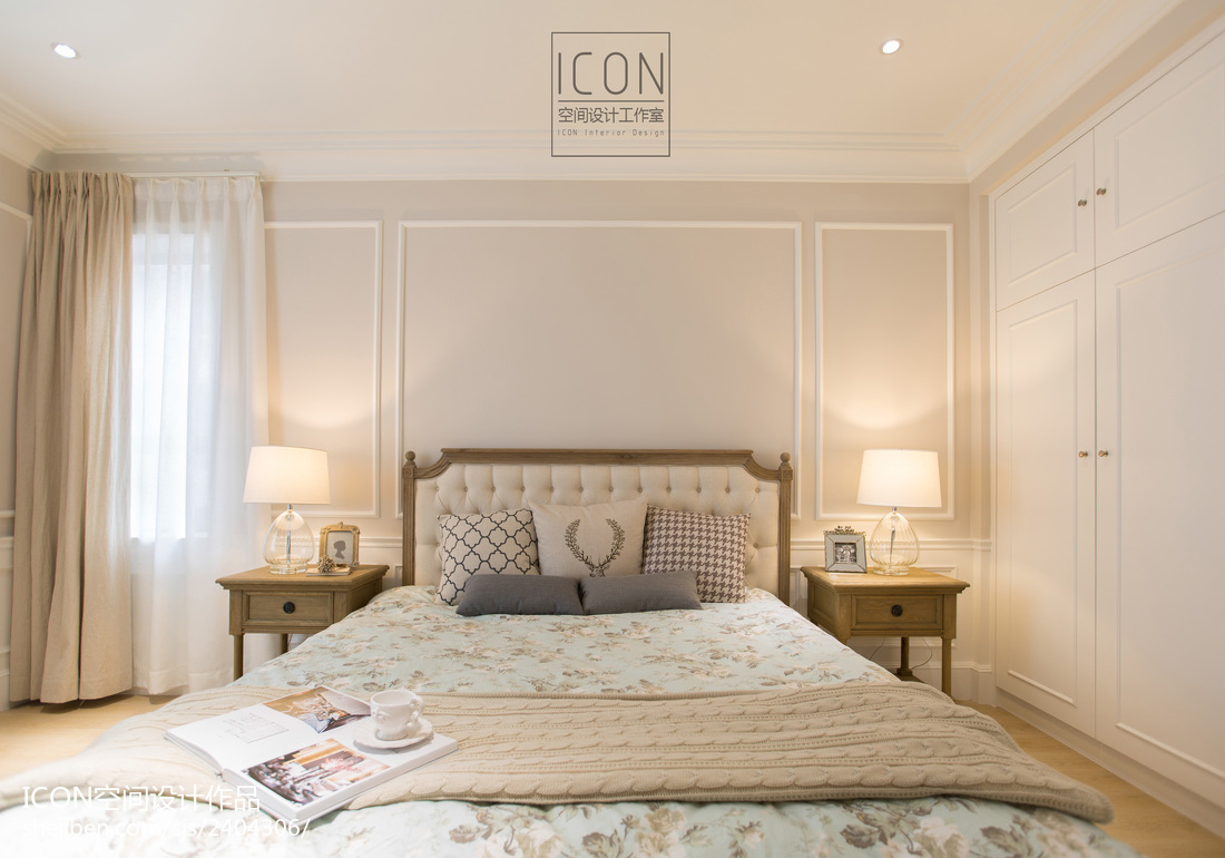 2018面积122平别墅卧室美式装修设计效果图片大全