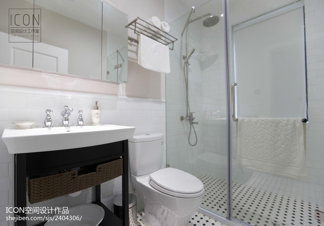 2018面积137平别墅卫生间美式效果图片
