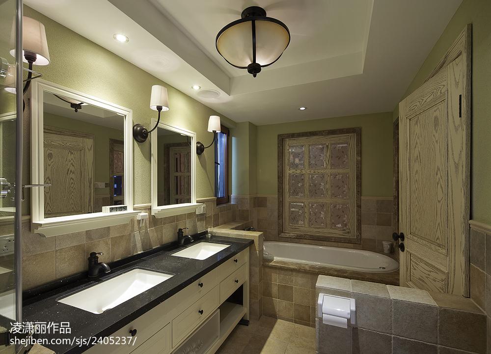 美式风格卫生间装修设计图