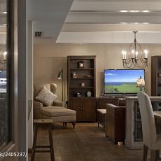 热门面积117平别墅客厅美式实景图