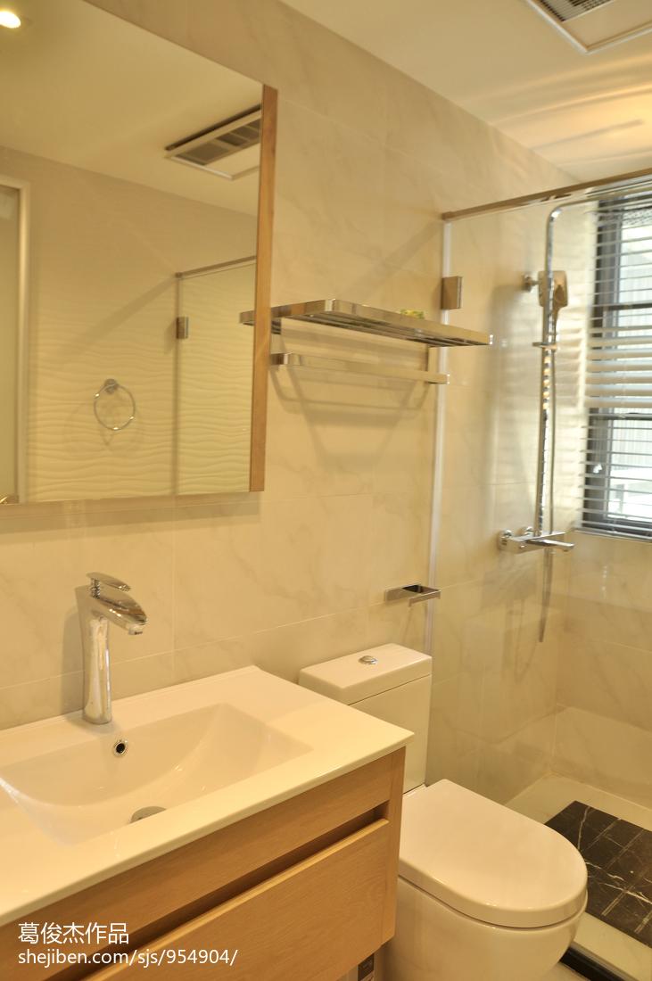 豪华庄重的现代风格卫生间装修效果图大全2014图片