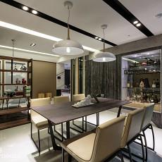 2018精选77平米二居餐厅现代装修实景图片大全