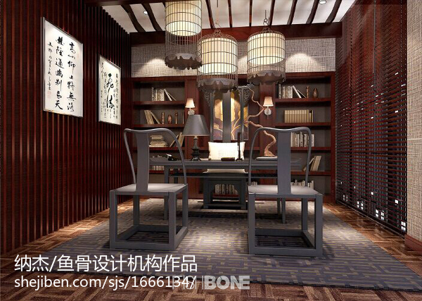 精致新中式客厅装潢