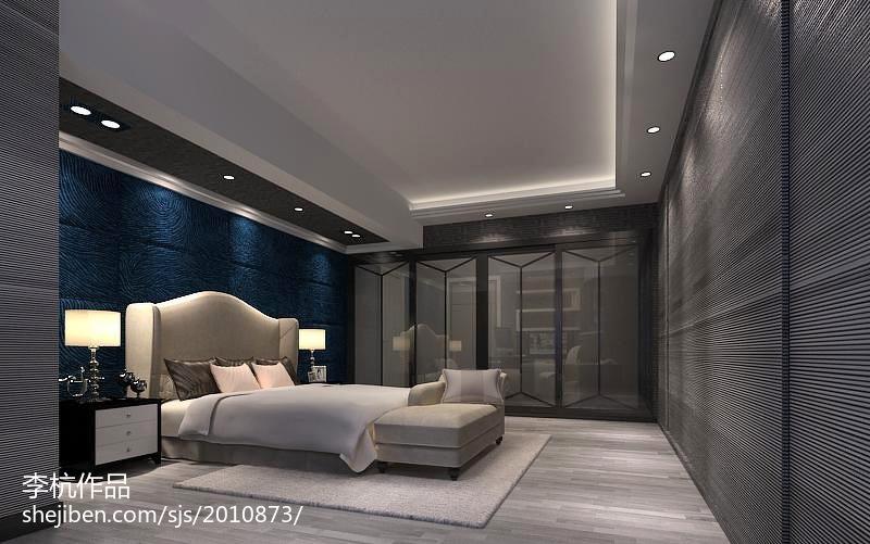 精选144平米现代别墅卧室装修欣赏图片