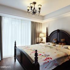 95平米三居卧室美式装修欣赏图