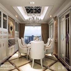 103平方三居餐厅欧式效果图片欣赏