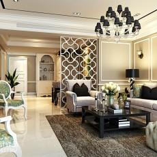 精美面积103平欧式三居客厅装修实景图