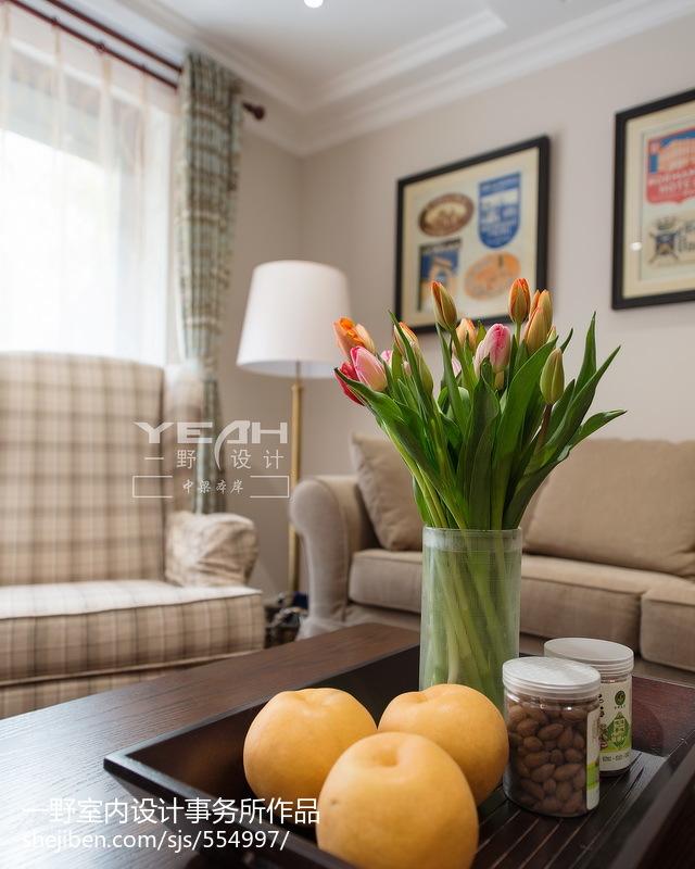 精选131平米美式别墅客厅装修效果图片欣赏