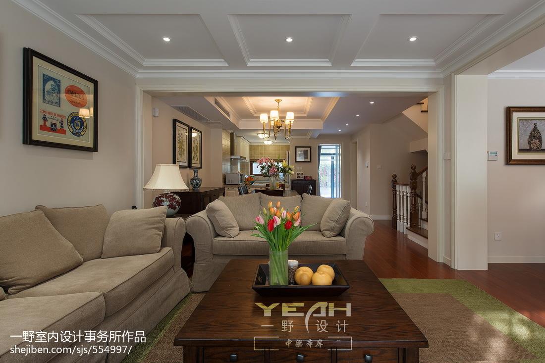 热门131平米美式别墅客厅效果图片