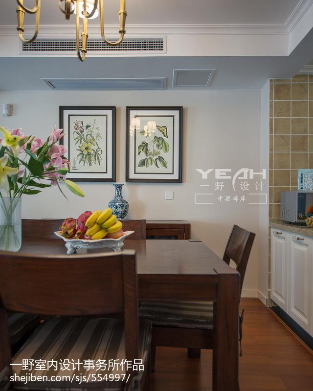 热门面积140平别墅餐厅美式装修效果图