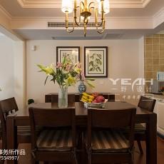 2018121平米美式别墅餐厅装修图片大全