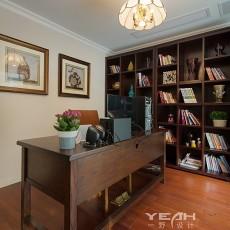 2018133平米美式别墅书房装修欣赏图片