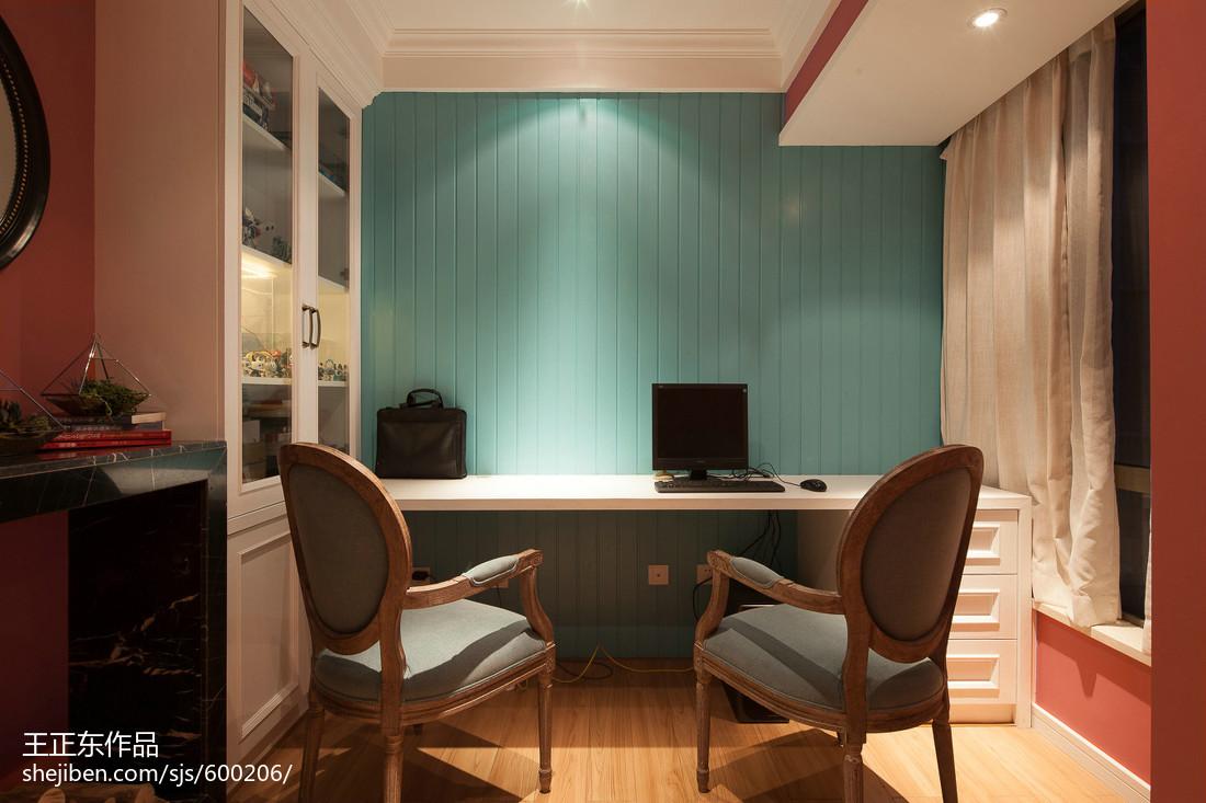 109平米三居书房美式装修实景图片