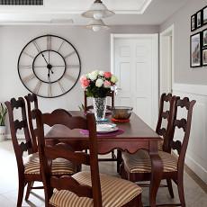 2018精选面积91平美式三居餐厅装饰图片