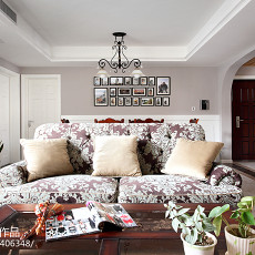 精选95平米三居客厅美式装修实景图片欣赏