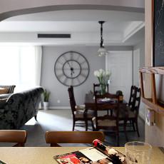 面积98平美式三居装修实景图片欣赏