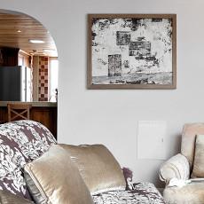 面积90平美式三居客厅装修效果图片欣赏