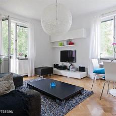 2018面积84平小户型客厅现代装修欣赏图