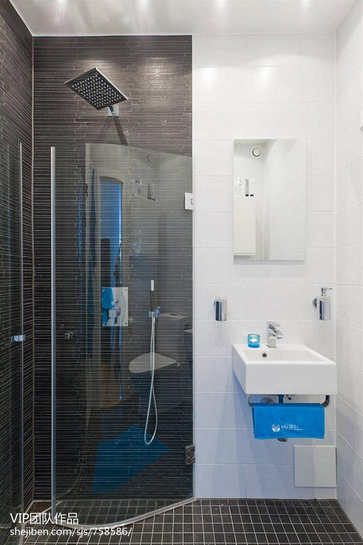 热门面积76平小户型卫生间现代装修效果图片大全