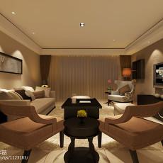 热门面积126平现代四居客厅欣赏图片大全