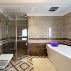 2018精选124平米欧式别墅卫生间装修实景图片