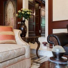 2018精选114平米美式复式客厅装饰图片