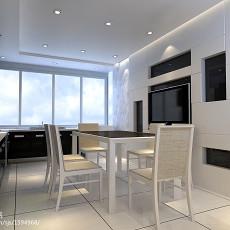 90平方三居餐厅现代装修实景图片