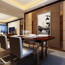 109平方三居餐厅现代装修实景图片