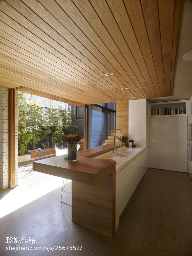热门现代别墅厨房实景图片欣赏