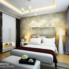 90平米三居卧室现代实景图片大全