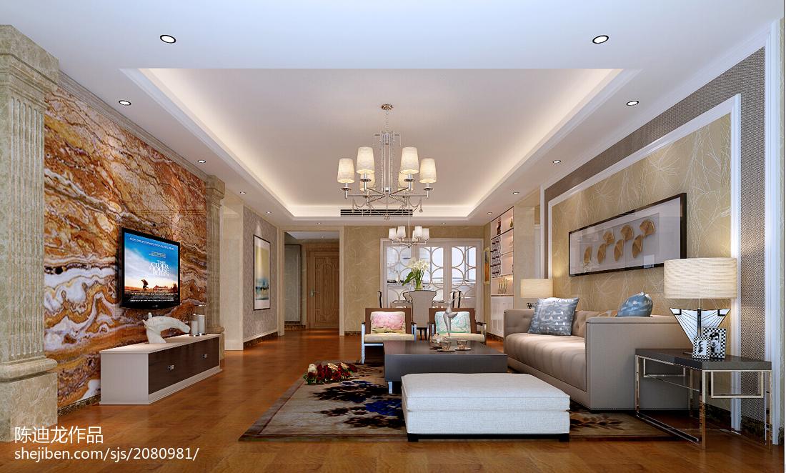 现代装修简约风格客厅效果图