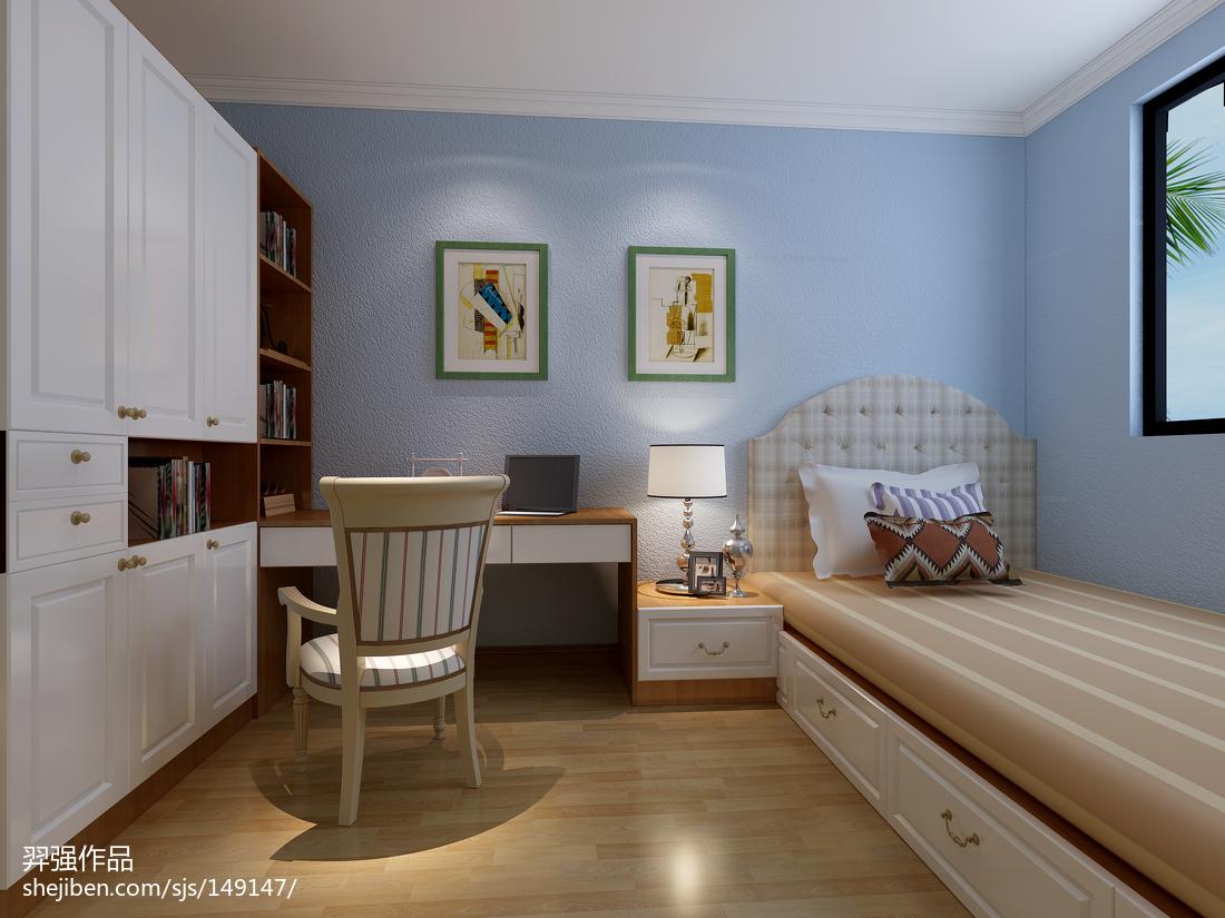 欧式古典设计别墅卧室装修效果图片