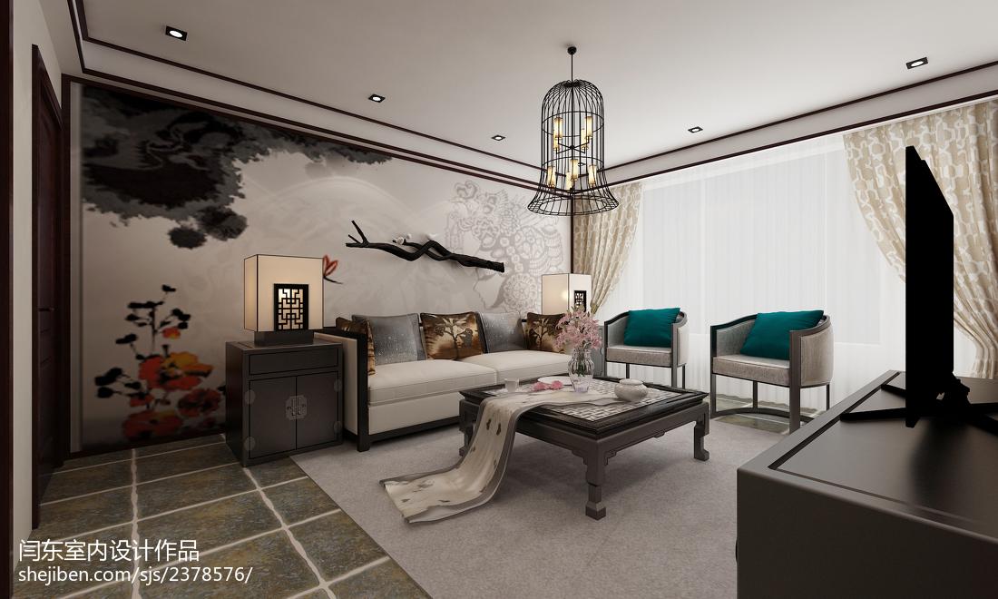 精美复式客厅中式实景图片大全