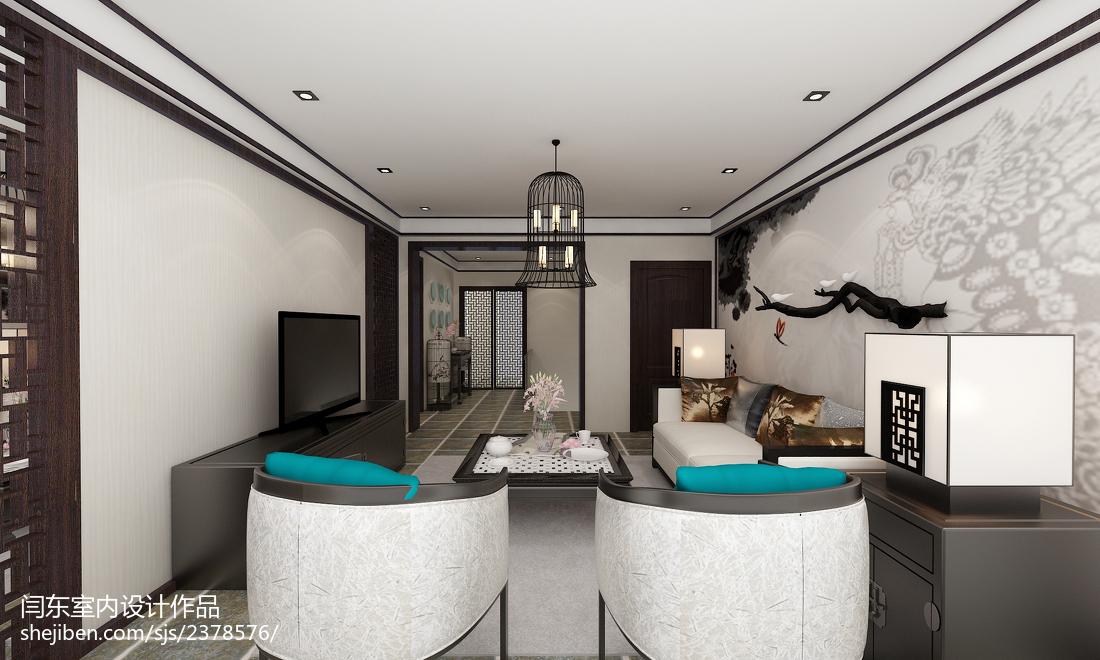 中式新农村建设户型客厅设计图欣赏