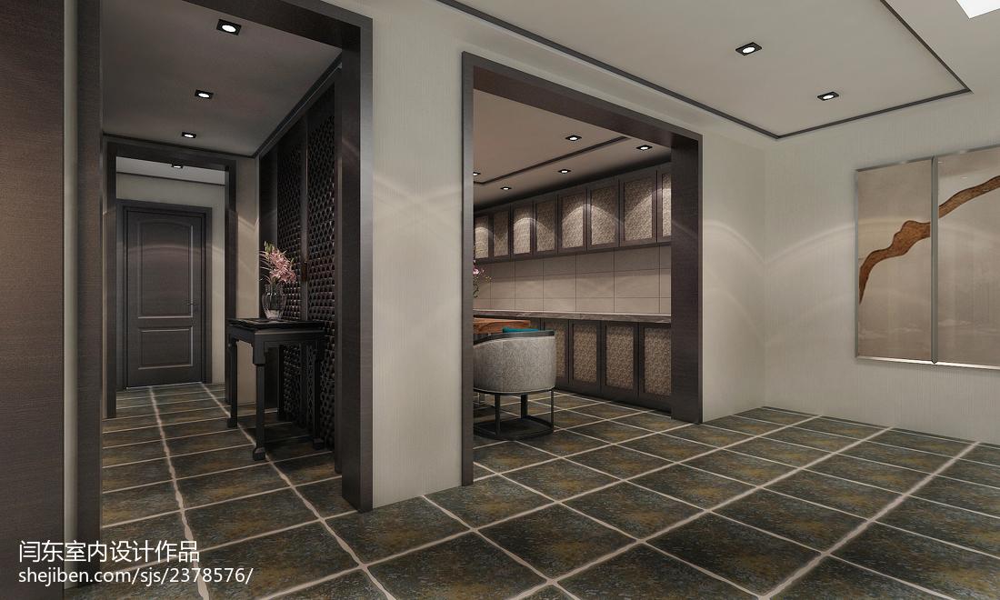 中式新农村建设户型客厅隔断设计图