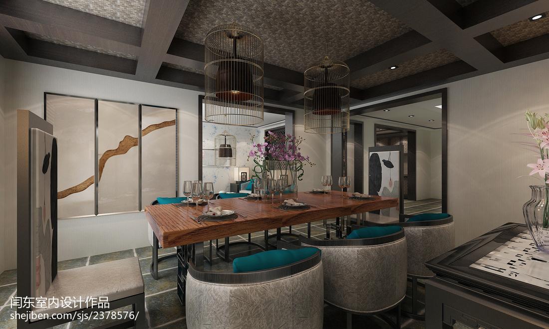 精美复式餐厅中式装修效果图片
