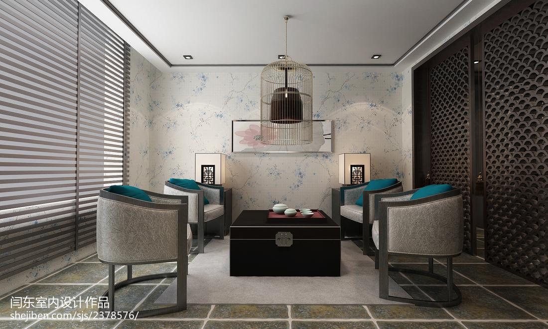 精选面积132平复式客厅中式装修实景图片大全