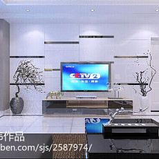 热门133平方四居客厅现代装修设计效果图