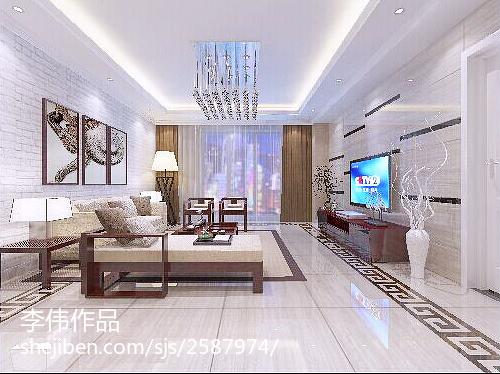 热门124平米四居客厅现代装修效果图